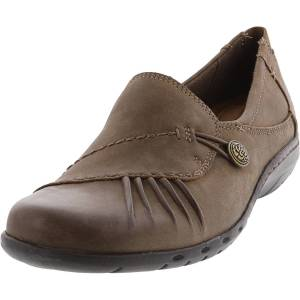 Rockport Women's Paulette Stone Ankle-High Leather Flat Shoe - 12M