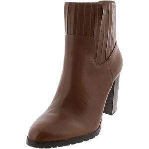 Aerosoles Women's Wardrobe Leather Mid Brown Mid-Calf Boot - 12M