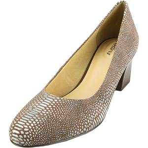 Trotters Women's Candela Light Multi Reptile Ankle-High Leather Pump - 9N