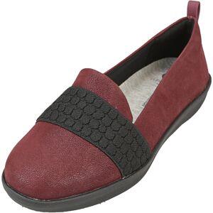 Clarks Women's Ayla Sloane Maroon Ankle-High Fabric Slip-On Shoes - 5M