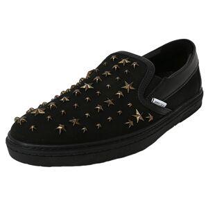 Jimmy Choo Women's Grove Black / Antique Brass Ankle-High Nubuck Slip-On Shoes - 11.5M