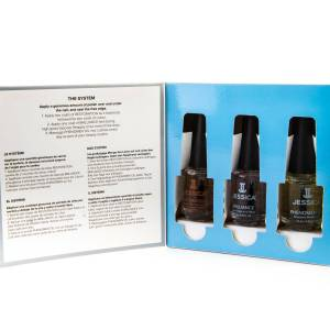 Jessica Damaged Nails Treatment Kit with Restoration, Brilliance, and Phenomen Oil - 4M / 2M - Clear