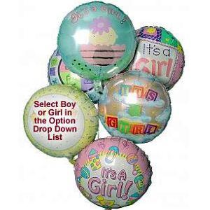 Last Minute Gifts Half Dozen Mylar Balloons Baby Boy