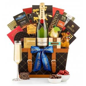 Gifttree Happy Birthday Champagne Basket