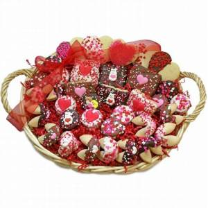 Lady Fortunes Giant Fortune Cookies Sweethearts Gourmet Gift Basket