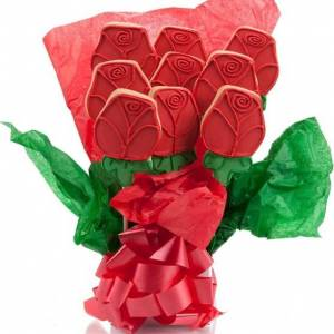 Lady Fortunes Giant Fortune Cookies Red Roses Cookie Bouquet