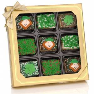 Lady Fortunes Giant Fortune Cookies St. Patrick's Chocolate Dipped Mini Crispy Rice Bars