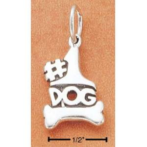 Sterling Silver Jewelry Designs Number One Dog Charm