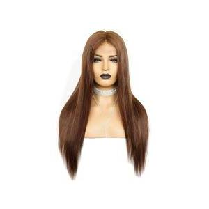 SHEIN 13*4 Lace Front 150% Long Straight Human Hair Wig  - Brown - Size: 8 Inch 10 Inch 12 Inch 14 inch 16 inch 18 inch 20 inch