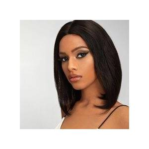 SHEIN 13*4 Lace Front 150% Short Straight Human Hair Wig  - Black - Size: 10 Inch 12 Inch 14 inch