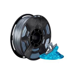 Monoprice Hi-Gloss 3D Printer Filament PLA 1.75mm 1kg/spool, Gray