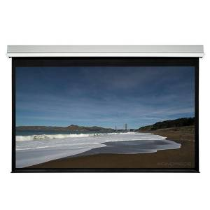 Monoprice 120in HD White Fabric Ceiling-Recessed Motorized Projection Screen 16:9