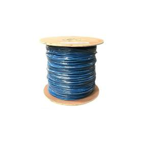 Monoprice Cat6A Ethernet Bulk Cable - Solid, 500MHz, UTP, CMR, Riser Rated, Pure Bare Copper Wire, 23AWG, No Logo, 1000ft, Blue