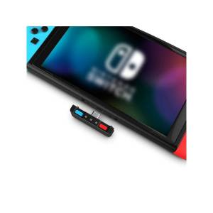 HomeSpot Bluetooth Audio Transmitter Adapter For Nintendo Switch (Blue & Red)