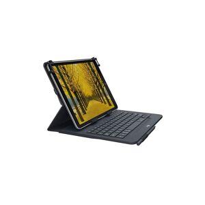 Logitech 9-10 inch Tablet Keyboard Case   Universal Folio: Wireless Keyboard with Bluetooth Black - 920-008334