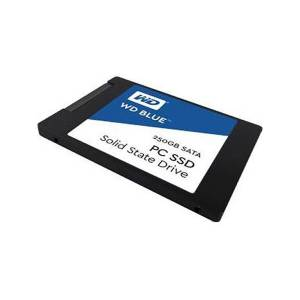 """Western Digital WD Blue 3D NAND 250GB PC SSD - SATA III 6 Gb/s 2.5""""/7mm Solid State Drive - WDS250G2B0A"""