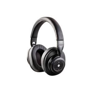 Monoprice SonicSolace Active Noise Cancelling Bluetooth 5 with aptX Wireless Over the Ear Headphones, Black