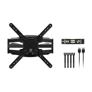 Monoprice SlimSelect Series Full-Motion Articulating TV Wall Mount for TVs 19in to 55in, Max Weight 100 lbs, Extension Range from 1.2in to 17.8in, VES