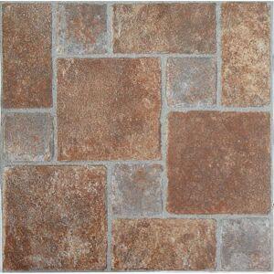 Achim NEXUS Brick Pavers 12 Inch x 12 Inch Self Adhesive Vinyl Floor Tile #332 - 20 Tiles