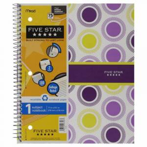 Five Star 79483111 Notebook, 1 Subject, 1 notebook