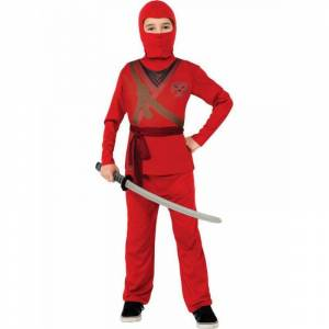 Rubie's Costume Co Red Ninja Child Costume, Size: Small