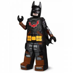 Lego Movie 2: Batman Prestige Child Costume, Size: Large, black