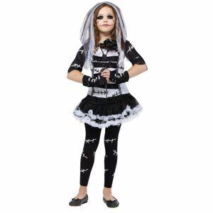 BLEYER EASTER PACKAGING DIV Girls Monster Bride Halloween Costume, Size: Small, black