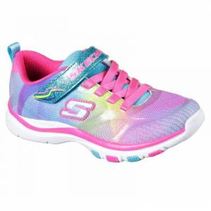 Skechers Girls' Dash N' Dazzle Athletic Shoe - Pink Multi, Size: 2 - (Youth)