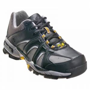 Nautilus Safety Footwear Men's N1333 Static Dissipating Steel Toe ESD Work Shoe Wide Width Available - Black, Size: 14, Gray