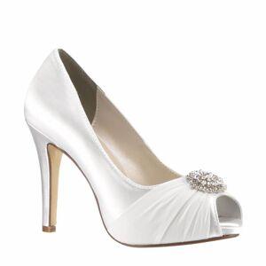 Touch Ups Women's Antonia White Pump, Size: 6