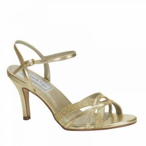 Touch Ups Women's Taryn Gold Sandal - Wide Width Available, Size: 5