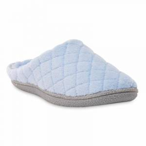 Dearfoams Women's All Over Lattice Clog Slipper - Blue, Size: Small