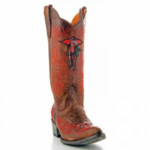 Gameday Boots Women's Texas Tech Leather Boot, Size: 9, BRASS