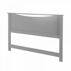 """South Shore """"South Shore Step One Full/Queen Headboard (54/60"""") - Modern Style, Soft Gray"""""""