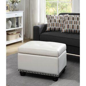 Convenience Concepts Designs4Comfort 5th Avenue Storage Ottoman, Gray