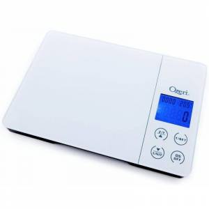 Ozeri Gourmet Digital Kitchen Scale with Timer, Alarm and Temperature Display, White