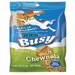 """Busy Bone """"Busy Bone """"Chewnola"""" Dog Treats 4 oz. Bag"""""""