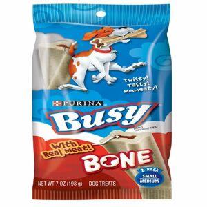 Busy Bone Small/Medium Meaty Chewbone Dog Treats 7 oz. Bag