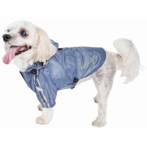Dog Helios Torrential Shield' Waterproof Multi-Adjustable Pet Dog Windbreaker Raincoat, Aqua Blue