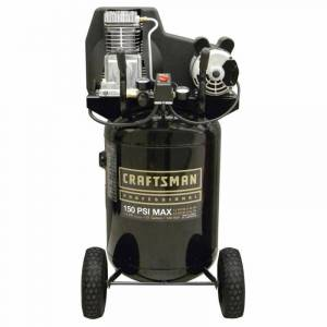 Craftsman 27 gal. Oil-Lubricated Vertical Air Compressor, Black