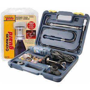 "Gyros ""Gyros PowerPro Variable Speed Rotary Tool Kit and Guard Safety Shield Kit, 1-1/2"" Dia. Capacity"""