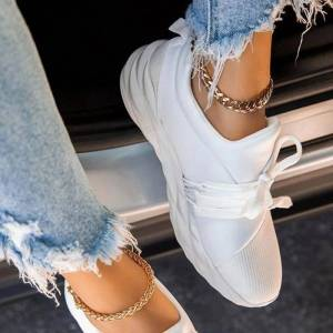 Ericdress Lace-Up Slip-On Round Toe Casual Thin Shoes