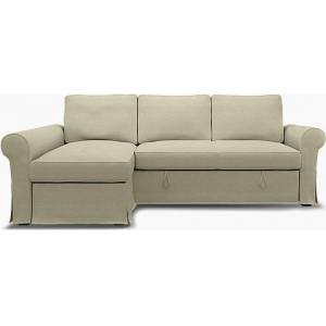 Bemz IKEA - Backabro Sofabed with Chaise Cover, Pebble, Linen - Bemz