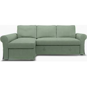 Bemz IKEA - Backabro Sofabed with Chaise Cover, Thyme, Linen - Bemz