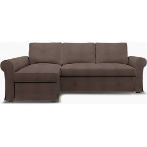 Bemz IKEA - Backabro Sofabed with Chaise Cover, Cocoa, Linen - Bemz