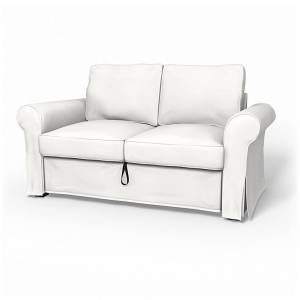 Bemz IKEA - Backabro 2 Seater Sofa Bed Cover, Soft White, Cotton - Bemz