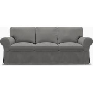 Bemz IKEA - Ektorp 3 Seater Sofa Cover, Zinc Grey, Linen - Bemz