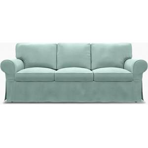 Bemz IKEA - Ektorp 3 Seater Sofa Cover, Mineral Blue, Linen - Bemz