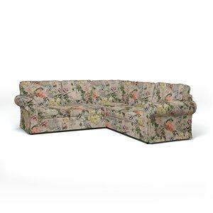 Bemz IKEA - Ektorp 4 Seater Corner Sofa Cover, Delft Flower - Tuberose, Linen - Bemz