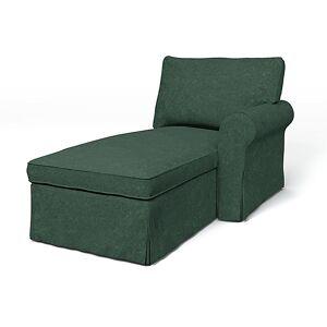 Bemz IKEA - Ektorp Chaise with Right Armrest Cover, Viridian, Velvet - Bemz
